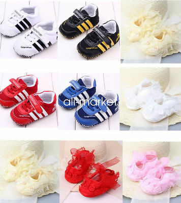 Toddler Baby Boy Girl Soft Sole Crib Shoes Infant Sneakers 0-18M Christmas Gifts