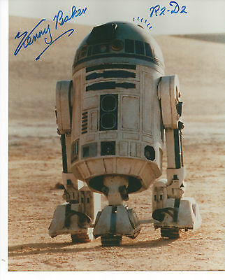 KENNY BAKER 'STAR WARS' HAND SIGNED AUTOGRAPHED 8x10 PHOTO