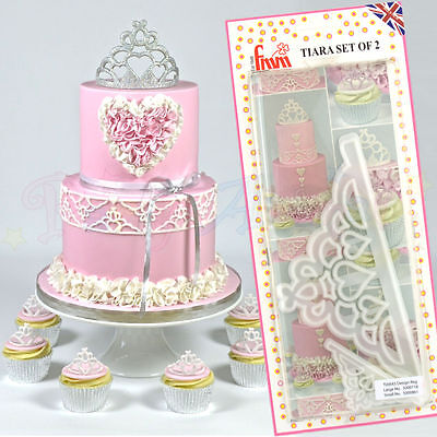 FMM Sugarcraft - Tiara Set of 2 Cutters - Cake decoration sugarpaste cutters