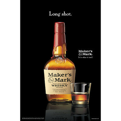 "Makers Mark ""long Shot"" Poster 24 By 36  New"