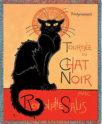 Throw Tapestry Afghan - Tournee Chat Noir 1281