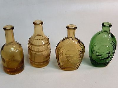 Lot of 4 Wheaton NJ Collectible Small Glass Bottles