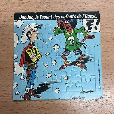 collector Puzzle publicitaire Lucky Luke Yaourt JanJac  Dargaud Morris 1983 n°1