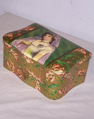 Celluloid Antique Box with Shaving Mug and Shaver