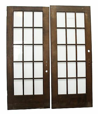 Dark Wooden Doors With 15 Glass Panels