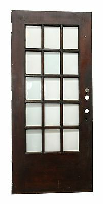 15 Beveled Glass Panel Dark Wood Door