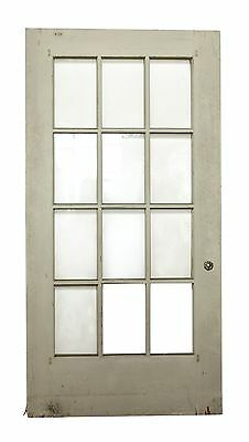 12 Beveled Glass Panel White Wooden Door