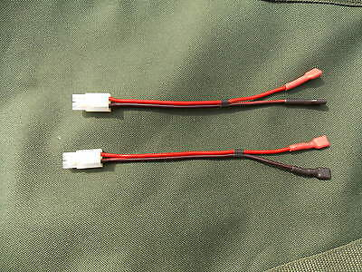 2 x Battery Leads For Viper Bait Boat