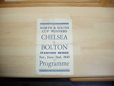 Chelsea v Bolton Football Lge North v South Cup Winners 1944/5 at Wembley Pirate