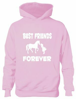 Best Friends Forever Love My Horse Funny Pony Riding Kids Hoodie Ages 1-13 Yrs