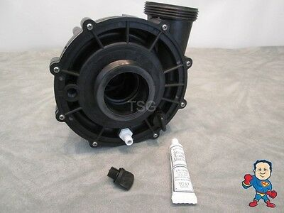 """Universal Spa Hot Tub Pump Wet End 2"""" X 2"""" 48 or 56 Frame 3 HP Barb Video How To"""