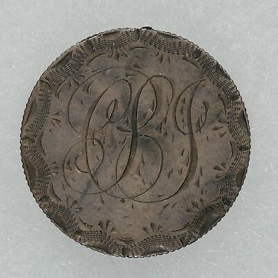 """1891 Love Token Seated Liberty Dime """"cpj"""" Initials"""