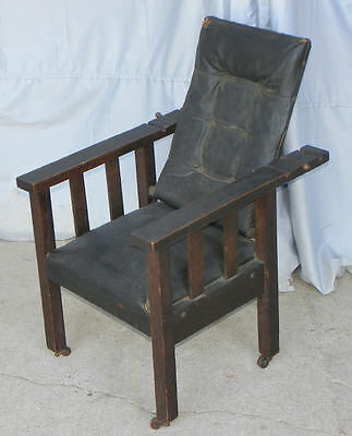 Antique Mission Oak Childs Morris Chair - Arts & Crafts