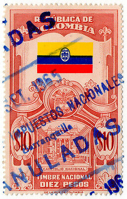 (I.B) Colombia Revenue : Duty Stamp $10