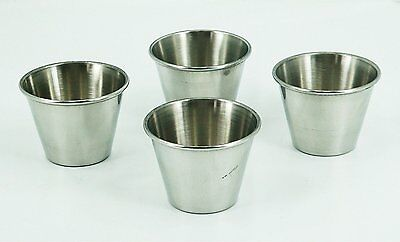 Pk4 Stainless Steel Sauce Cups 2oz bake cooking bowl sauce baking serving BBQ