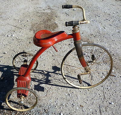 Antique Pal SUPERBIKE High Wheel Tricycle By La Porte Corp. 1950's