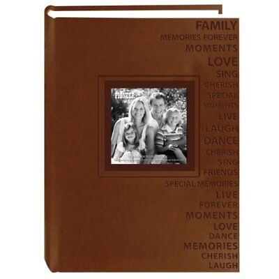 Pioneer Photo Albums 300-Pocket 4 by 6-Inch Embossed Words Design Leatherette