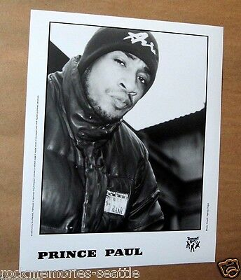 PRINCE PAUL 1993 Tommy Boy Records Promo Press Photo Undertaker, Chest Rockwell
