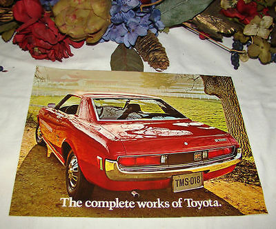 Vintage 1972 The Complete Works Of Toyota Car Brochure