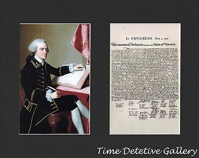 John Hancock and The Declaration of Independence - Matted Prints