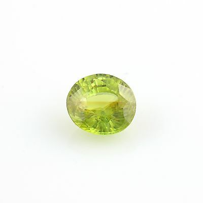 1.06ct Loose Sphene Gemstone - Round Green Faceted