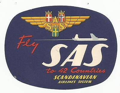 SAS AIRLINES luggage AIRLINE label