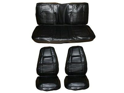 PG Classic 7703-BUK-100 1970 Charger 500,R/T Front Bucket Seat Cover Set(Black)