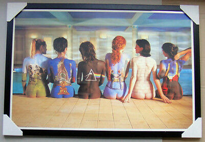 Pink Floyd Framed Poster BACK CATALOGUE Black Wooden with glass READY TO HANG