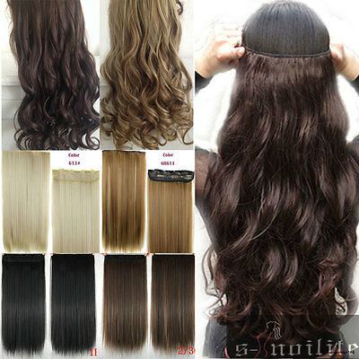 Full Head 1pcs 5clips Clip in on Hair Extensions Real thick human synthetic SL6