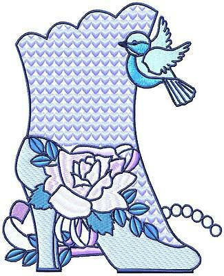 Fancy Boots  12  Machine Embroidery Designs 3 Sizes