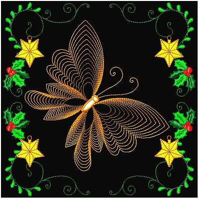 Christmas Butterflies 10 Machine Embroidery Designs 4 Sizes