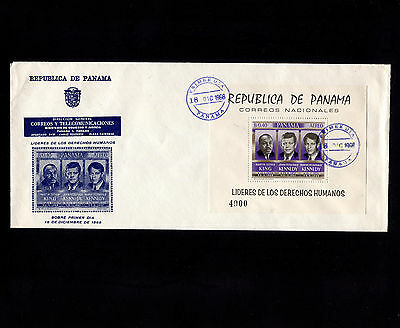 OPC 1968 Panama King Kennedys Airmail souvenir Sheet FDC Sc#C363a Unaddressed
