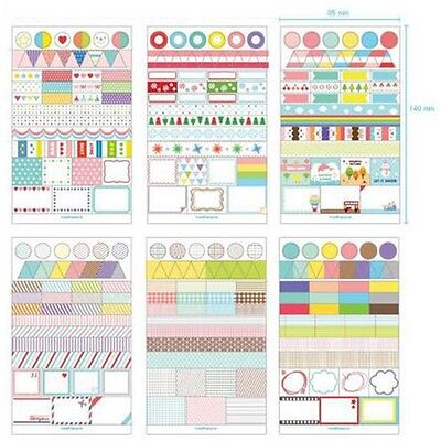 6 Pcs Simple Life Calendar Paper Stickers Scrapbook Calendar Diary Planner Decor