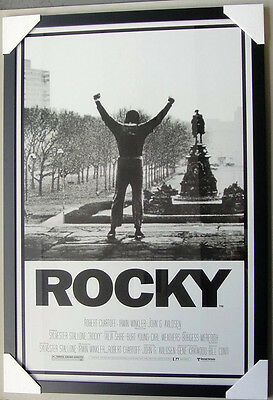 Rocky Framed Poster BLACK TIMBER WITH GLASS Ready to hang SYLVESTER STALLONE