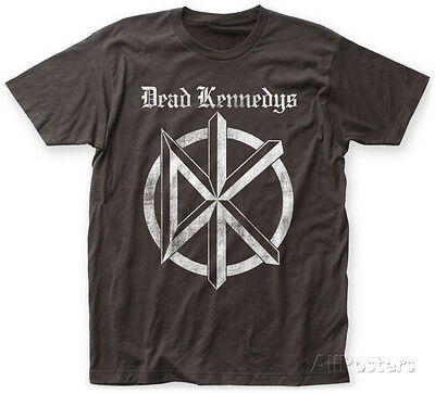 Dead Kennedys- Distressed Gothic Logo Apparel T-Shirt - Coal