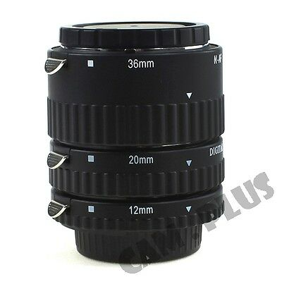 Meike Macro AF Auto Focus Automatic Extension Tube For Nikon F Lens 3 Ring