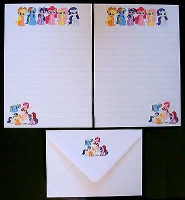 Cute My Little Pony Ponies Mane 6 Letter Writing Paper Stationery Set