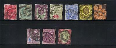 Great Britain 10 old used stamps