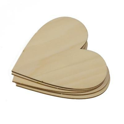 5Pcs Unfinished Wood Crafts Large Wooden Heart Scrapbooking Supplies 120mm