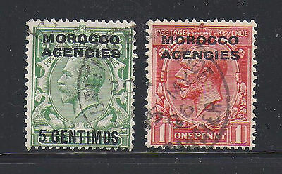 Morocco Agencies 2 old used stamps
