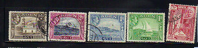 Aden 5 old used stamps