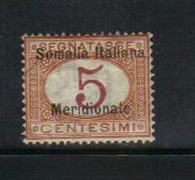 Somalia/Italy Postage due used stamp with overprint