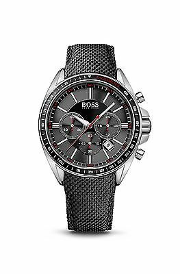 Chronograph Black Nylon Strap Stainless Steel Driver Watch by BOSS 1513087