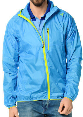 Adidas Edo Light Wind Mens Running Jacket - Blue