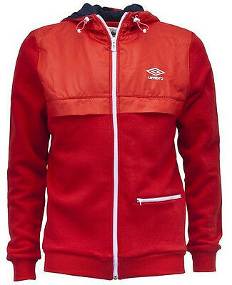 Umbro D Series Zip Hooded Mens Jacket - Red