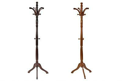 Traditional wood Coat Hat Stand Umbrella Solid Holder Hooks Rack Wooden Storage