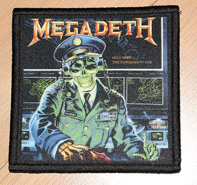 """MEGADETH """"HOLY WARS...THE PUNISHMENT DUE"""" silk screen PATCH"""