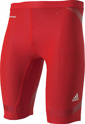 Adidas Tech-Fit Compression Power Web Mens Short Tight - Red