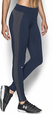 Under Armour ColdGear Compression Ladies Running Tights - Blue