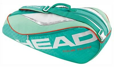 Head Tour Team Combi 6 Rackets Turquoise   Coral Tennistaschen